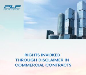Read more about the article Rights Invoked Through Disclaimer In Commercial Contracts